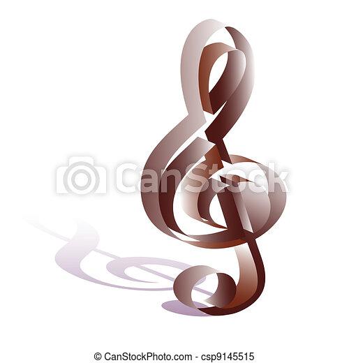 treble clef - csp9145515