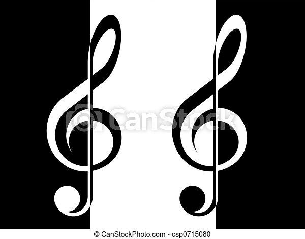treble clef - csp0715080