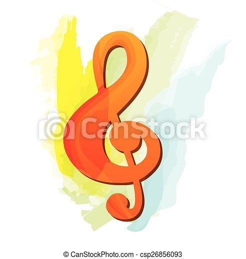 Treble clef - csp26856093
