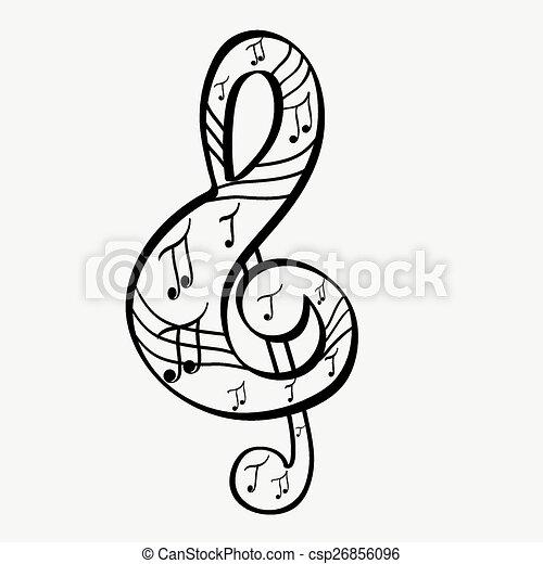 Treble clef - csp26856096