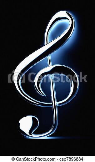 Treble clef - csp7896884