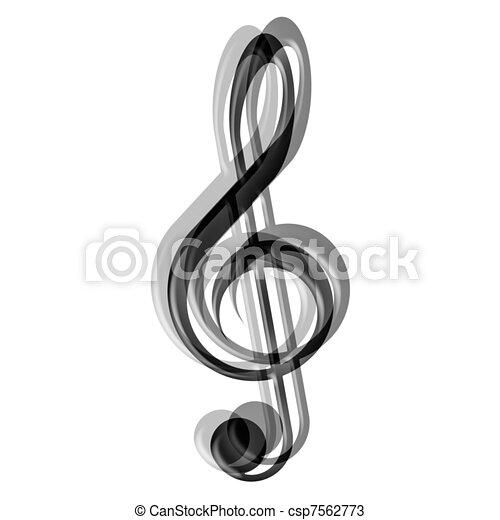 treble clef - csp7562773