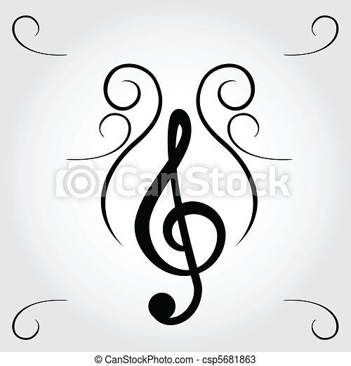 Treble clef - csp5681863