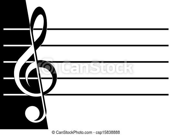 Treble clef - csp15838888