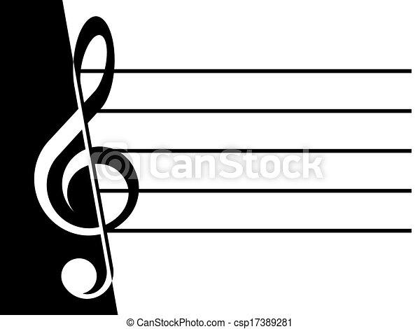 Treble clef - csp17389281