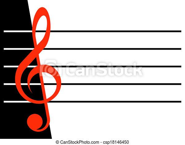 Treble clef - csp18146450