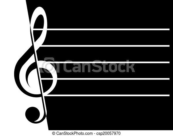Treble clef - csp20057970