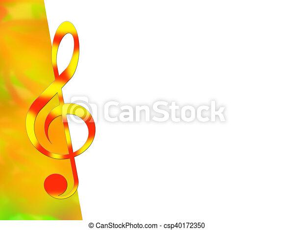 Treble clef - csp40172350