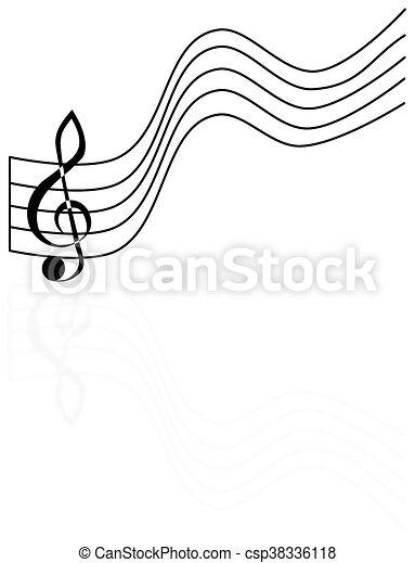treble clef, - csp38336118