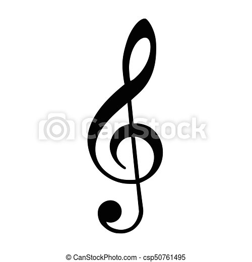 treble clef vector vector illustration black treble clef isolated rh canstockphoto com treble clef vector illustrator treble clef vector graphic