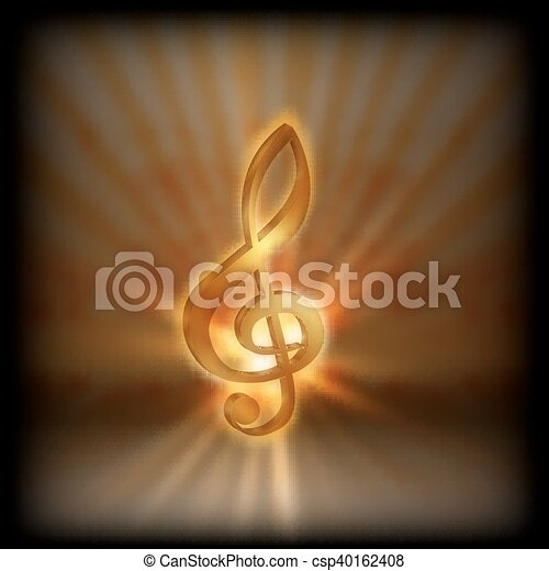 treble clef with blurred background - csp40162408
