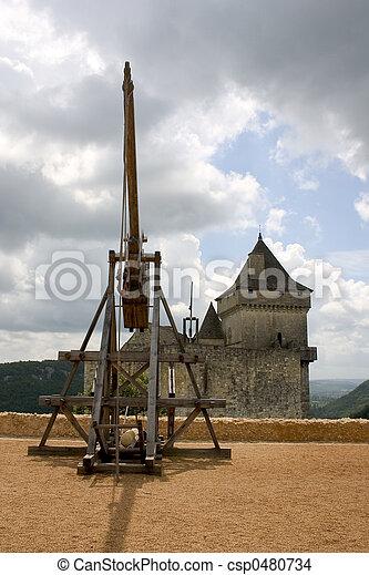 Trebuchet in Castelnaud, France - csp0480734