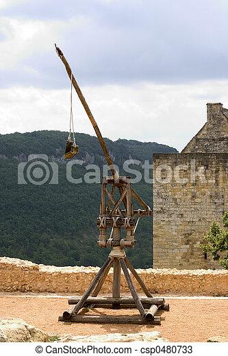 Trebuchet in Castelnaud, France - csp0480733