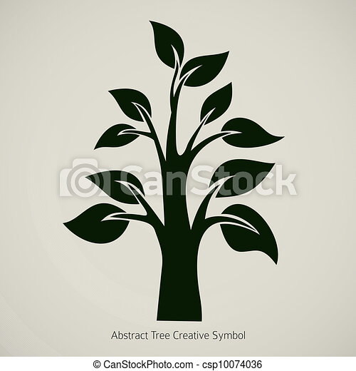 Tree Abstract Icon - csp10074036