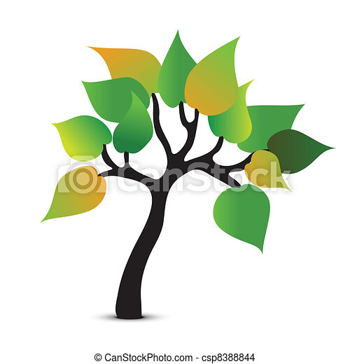 Tree abstract symbol. Vector icon - csp8388844