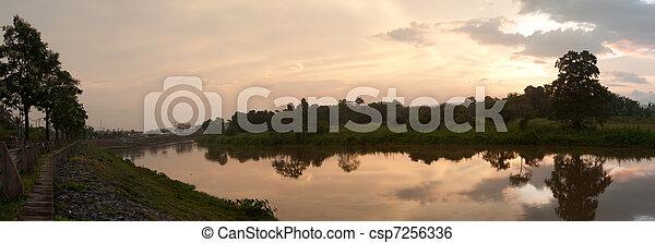 tree and lake - csp7256336