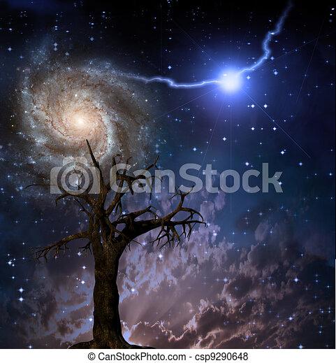tree and space rh canstockphoto com Solar System Clip Art Rocket Clip Art