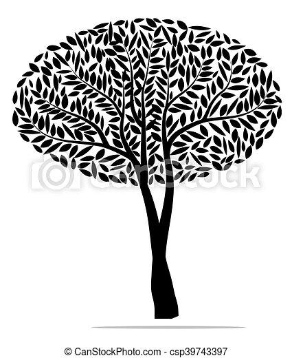 tree black , vector illustration - csp39743397