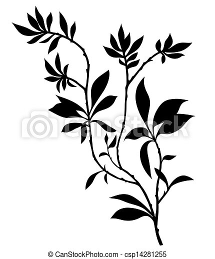 tree branches silhouette with lot of leaves vector clipart rh canstockphoto com branch vector ban plus near mi branch vector free