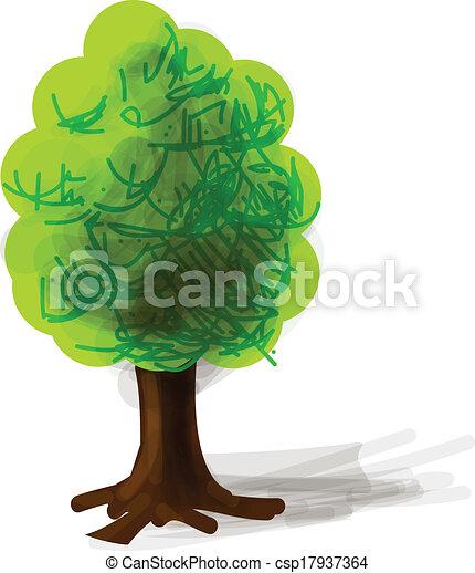 Tree cartoon icon vector illustration - csp17937364