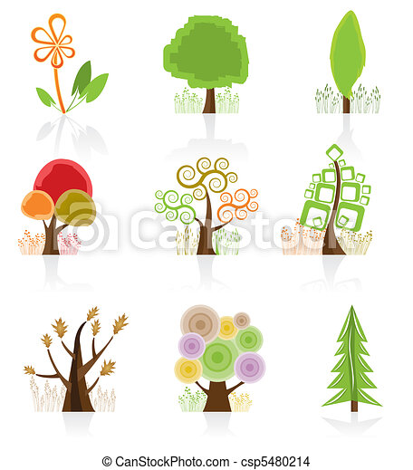 Tree Collection icon - csp5480214