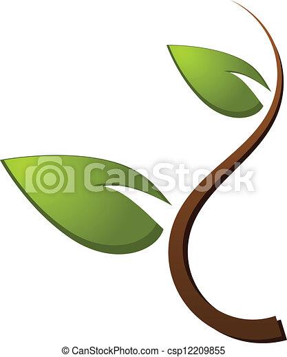 Tree green nature logo - csp12209855