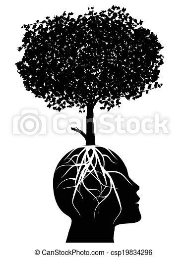tree growing from a head, Learning - csp19834296
