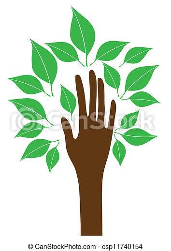 tree hand - csp11740154