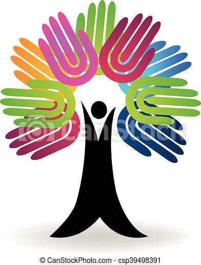 Tree hands logo - csp39498391