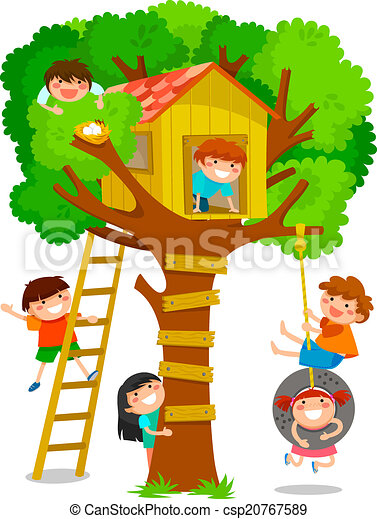 tree house stock illustrations 59 006 tree house clip art images rh canstockphoto com treehouse clipart black and white Magic Tree House
