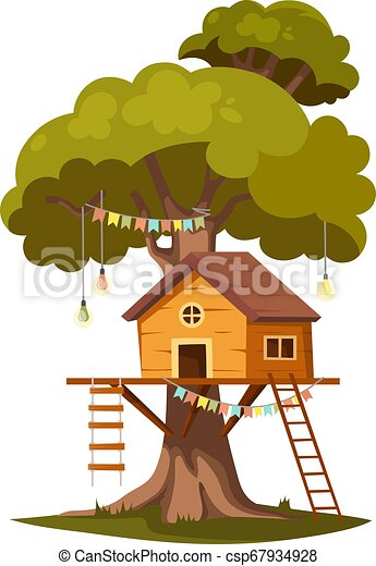 Tree House For Kids Tree House For Playing And Parties House On Tree For Kids Children Playground Wooden Town Rope Park Canstock What sick person would chop your mom not pieces and make you wear her? https www canstockphoto com tree house for kids 67934928 html