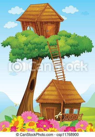 Phil McAndrew Illustrations & Comics   Tree house drawing, Tree house kids,  House drawing