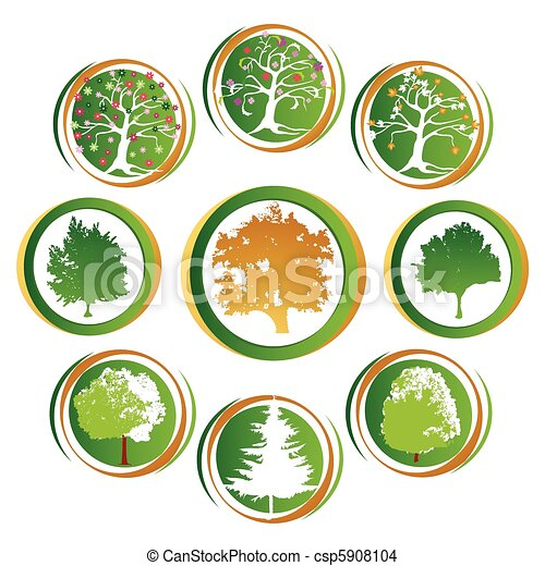 tree icon collection - csp5908104