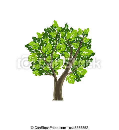 Tree Icon Nature Vector Symbol - csp8388852