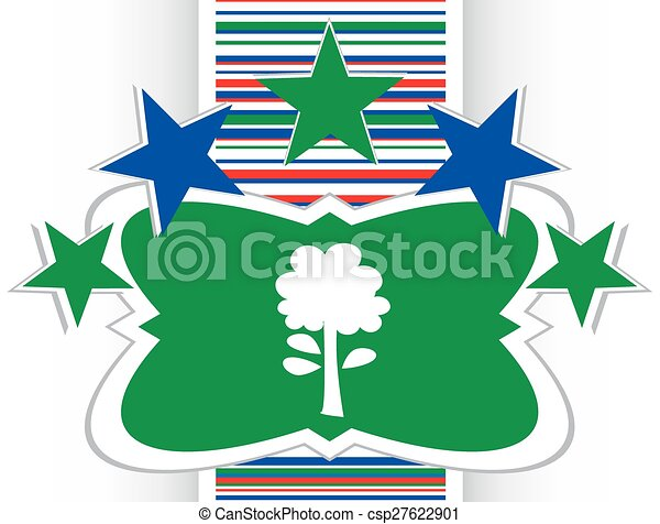 Tree icon on round button collection original illustration vector - csp27622901