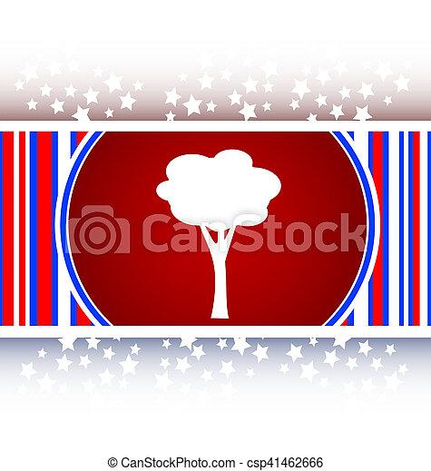 Tree Icon on Round Button - csp41462666