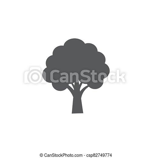 Tree icon on white background - csp82749774