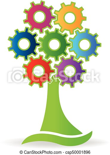 Tree made with gears logo - csp50001896