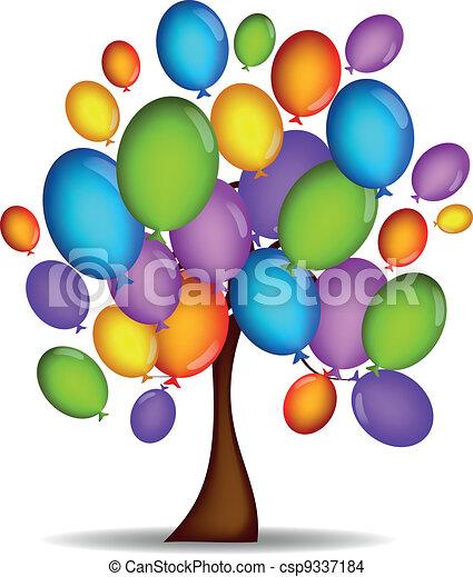 Tree of Balloons - csp9337184