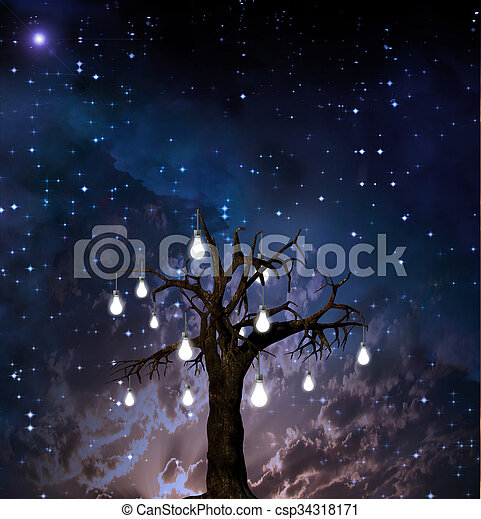 Tree of ideas - csp34318171