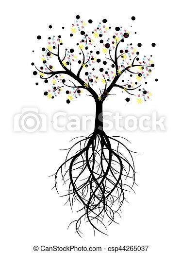 tree of life tree life silhouette illustration