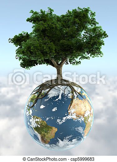 tree on planet earth - csp5999683