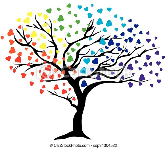 tree rainbow - csp34304522