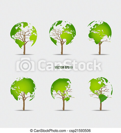 Tree shaped world map vector illustration vector clipart search tree shaped world map vector illustration gumiabroncs Image collections