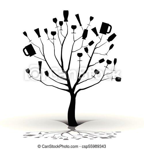 Borracho como un árbol - csp55989343