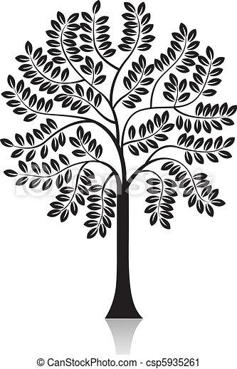 tree silhouette - csp5935261