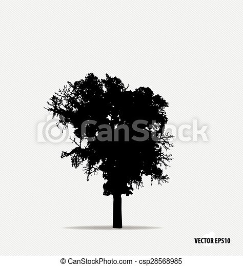 Tree silhouette. Vector illustration. - csp28568985