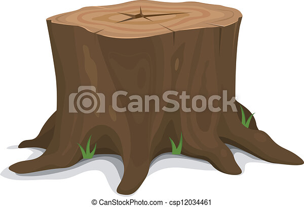 tree stump illustration of a cartoon big tree stump with roots and rh canstockphoto com tree stump clipart png Tree Stump Drawing