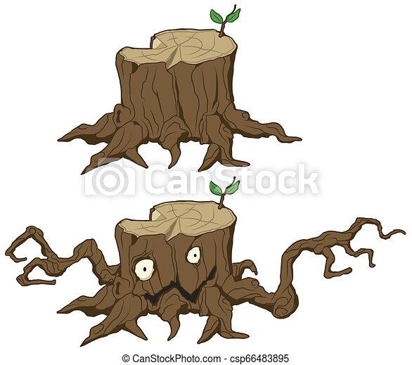 22+ Tree Stump Cartoon Images JPG