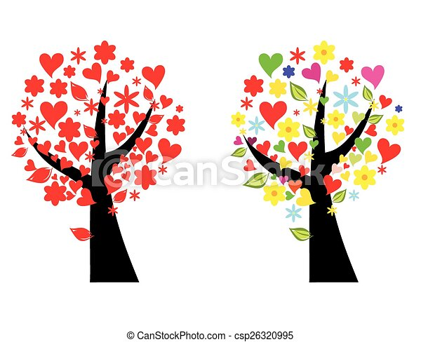 Tree stylized vector illustration - csp26320995